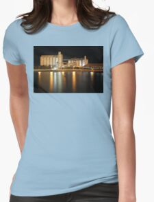 Wallaroo Silo's at Night Womens Fitted T-Shirt