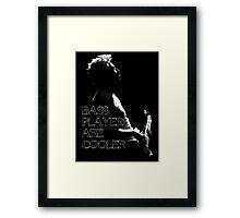 u2 adam bass players Framed Print