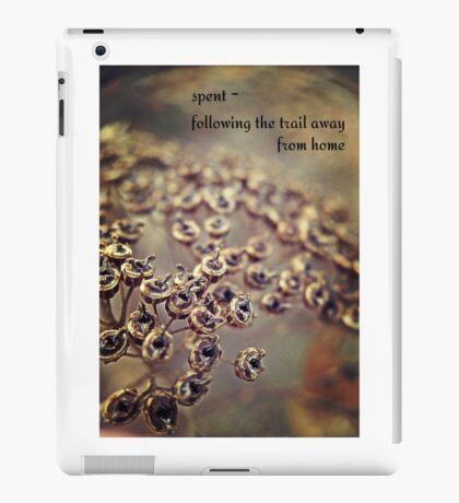 spent blooms iPad Case/Skin