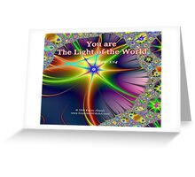The Light Of The World Greeting Card