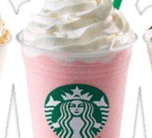 Three Starbucks Drinks Sticker