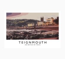 Teignmouth (Railway Poster) Kids Tee