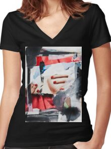 AC No.6 Women's Fitted V-Neck T-Shirt