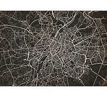 Brussels map ink lines Photographic Print