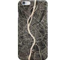 Budapest map ink lines iPhone Case/Skin