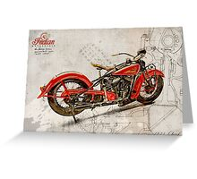 Indian Chief 1935 Greeting Card
