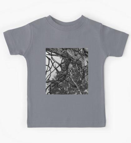 Greyscale Tree Design Kids Tee