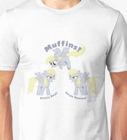 'Derpy Hooves VS. Ditzy Doo' decal Unisex T-Shirt