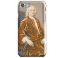 George Vertue 1684 - 1756 SIR ISAAC NEWTON, THREE-QUARTER LENGTH, SEATED IN AN ARMCHAIR iPhone Case/Skin