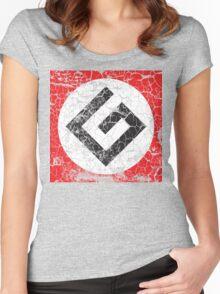 Grammar Nazi Distressed Art Women's Fitted Scoop T-Shirt