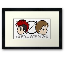 chibi top Framed Print