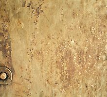Old grunge metal texture with rust by juras