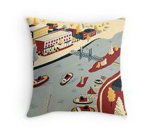 Portsmouth & Kittery Throw Pillow