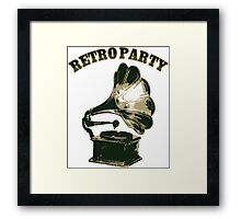 Retro Party with  Gramophone Framed Print