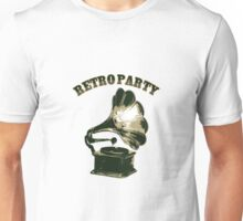 Retro Party with  Gramophone Unisex T-Shirt