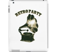 Retro Party with  Gramophone iPad Case/Skin