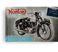 Norton Dominator 1951 Canvas Print