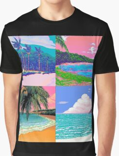Pixel art Vaporwave Aesthetics Graphic T-Shirt