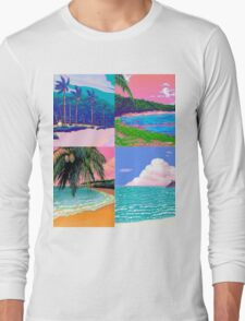 Pixel art Vaporwave Aesthetics Long Sleeve T-Shirt