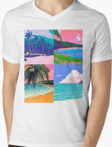 Pixel art Vaporwave Aesthetics Mens V-Neck T-Shirt