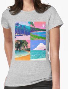 Pixel art Vaporwave Aesthetics Womens Fitted T-Shirt