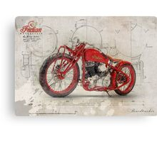 Indian Boardtracker Canvas Print