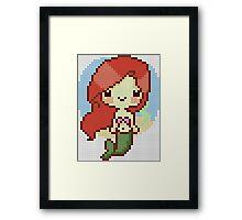pixel mermaid Framed Print