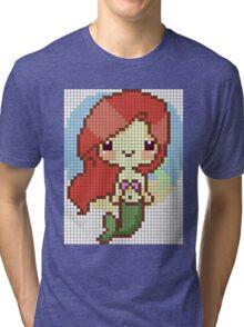pixel mermaid Tri-blend T-Shirt