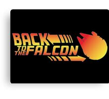 Back to the falcon Canvas Print
