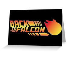 Back to the falcon Greeting Card
