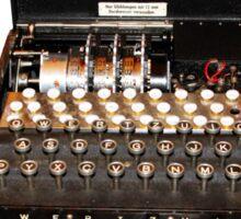 Secrets,  codes,  and the enigma machine  Sticker