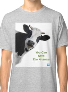 Crazy Cow You Can Save The Animals Classic T-Shirt