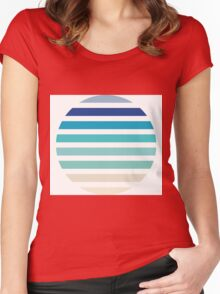 Beach- Sand, Ocean, Sky Color Theme Women's Fitted Scoop T-Shirt
