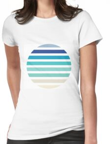 Beach- Sand, Ocean, Sky Color Theme Womens Fitted T-Shirt