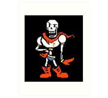 Undertale Papyrus Art Colorized Art Print