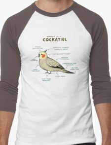 Anatomy of a Cockatiel Men's Baseball ¾ T-Shirt