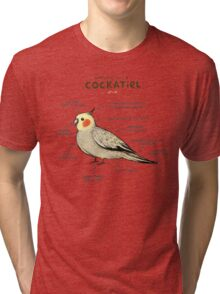 Anatomy of a Cockatiel Tri-blend T-Shirt