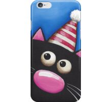 Party Cat in a red hat iPhone Case/Skin