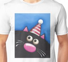 Party Cat in a red hat Unisex T-Shirt