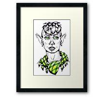 Modern Punk Elf Framed Print