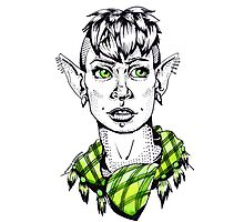 Modern Punk Elf Photographic Print
