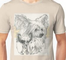 Chinese Crested, Father & Son Unisex T-Shirt