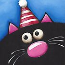 Cat in a party hat by StressieCat