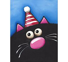 Cat in a party hat Photographic Print