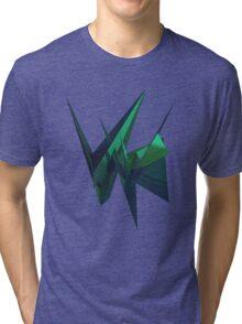 Green Fracture Tri-blend T-Shirt