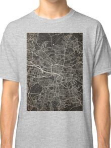 Glasgow map ink lines 2 Classic T-Shirt