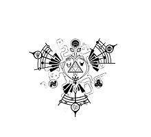 Majora's Mask Zelda Symbols Mashup Triforce by Yophio