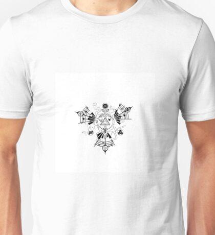 Majora's Mask Zelda Symbols Mashup Triforce Unisex T-Shirt