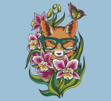 Fox in Glasses Baby Tee
