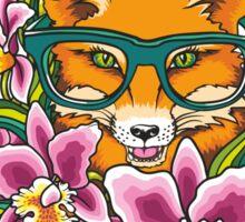 Fox in Glasses Sticker